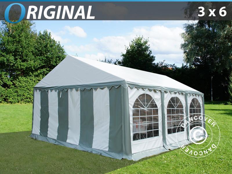 partyzelt original 3x6 m pvc grau wei dancovershop de. Black Bedroom Furniture Sets. Home Design Ideas