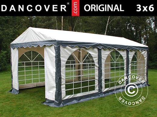 Marquee Original 3x6 m PVC, Grey/White