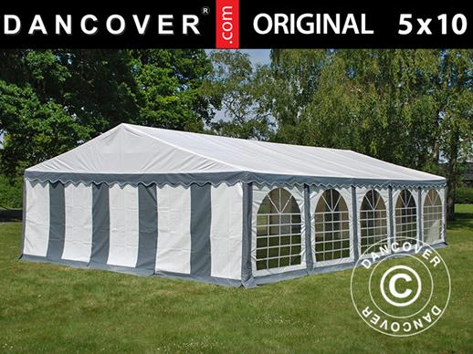 Marquee Original 5x10 m PVC, Grey/White