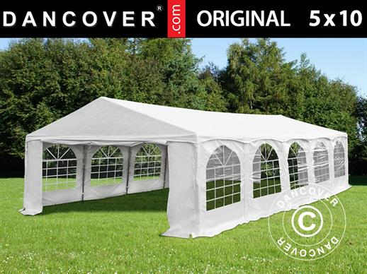 "Marquee Original 5x10 m PVC, ""Arched"", White"