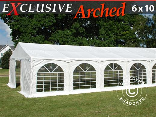 "Tente de réception Exclusive 6x10m PVC, ""Arched"", Blanc"