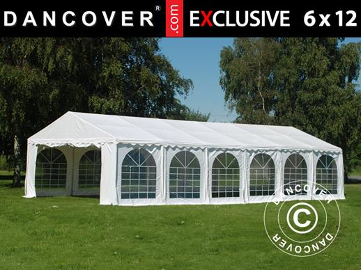 Tendone per feste Exclusive 6x12m PVC, Bianco