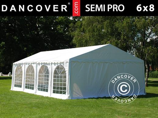 Partytent SEMI PRO Plus 6x8m PVC, Wit