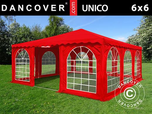 Pagodetent UNICO 6x6m, Rood