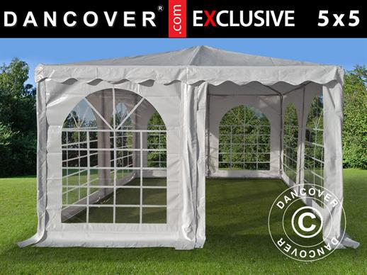Pagoda Marquee Exclusive 5x5 m PVC, White