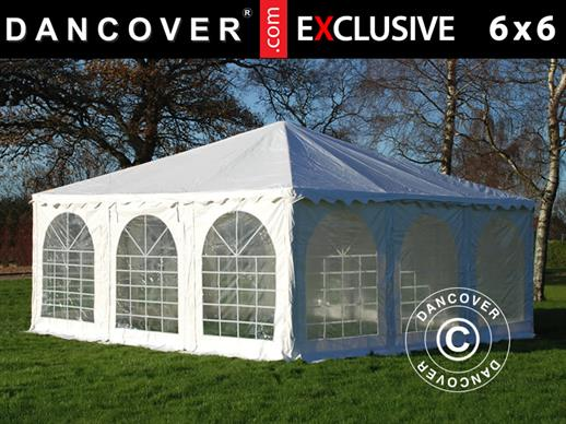 Carpa Pagoda Exclusive 6x6m PVC, Blanco