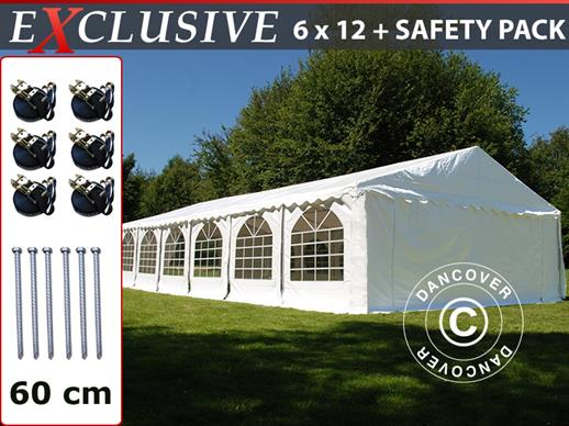 Partytent Exclusive 6x12m PVC, Wit
