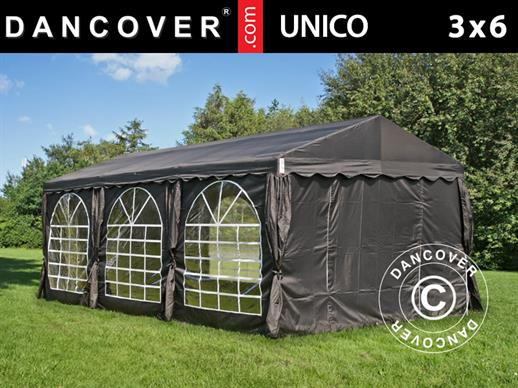 Partytelt UNICO 3x6m, Sort