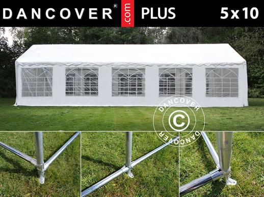 Marquee PLUS 5x10 m PE, White + Ground bar