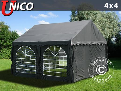 Partytelt UNICO 4x4m, Sort