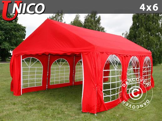 Partytent UNICO 4x6m, Rood
