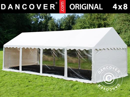 Partytent Original 4x8m PVC, Panorama, Wit