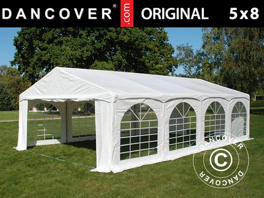 "Tente de réception Original 5x8m PVC, ""Arched"", Blanc"
