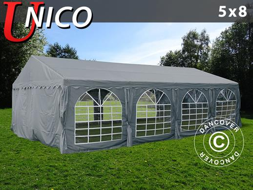 Partytent UNICO 5x8m, Donkergrij