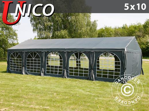 Partytent UNICO 5x10m, Donkergrij