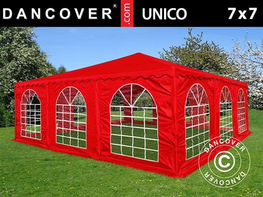 Pagodetent UNICO 7x7m, Rood