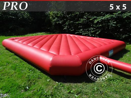 Bouncy pillow 5x5 m, Red, rental quality