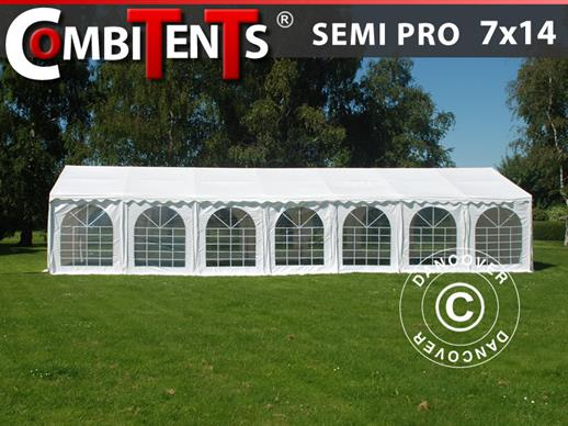 Carpa para fiestas, SEMI PRO Plus CombiTents® 7x14m 5 en 1, Blanco