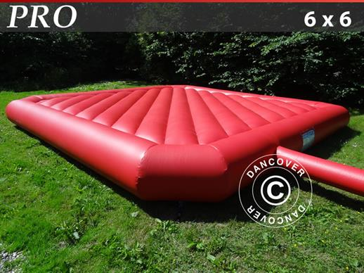 Bouncy pillow 6x6 m, Red, rental quality