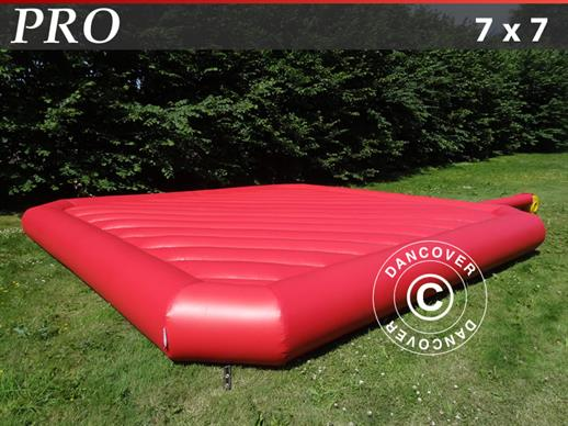 Bouncy cushion 7x7 m, Red, rental quality