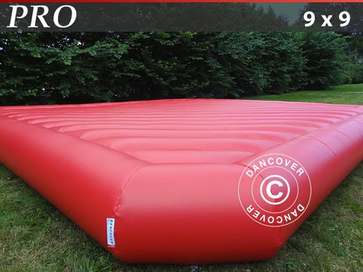 Jumping pillow 9x9 m, Red, rental quality, ONLY 1 PC. LEFT