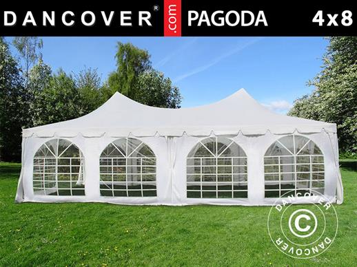Marquee Pagoda 4x8 m, White