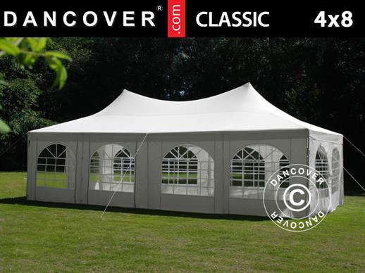 Marquee Pagoda 4x8m, Off-White
