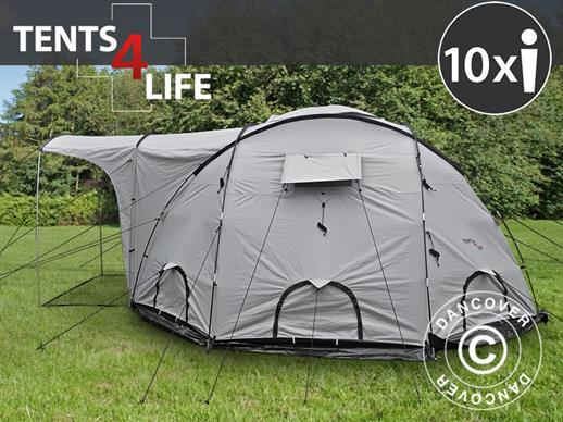 Base Camp/Flyktingtält, Tents4Life, 10 personer, Silver