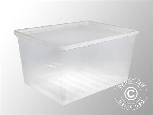 Storage Box, Basic, 57,4x77,8x40,2cm, 1 pc., Clear