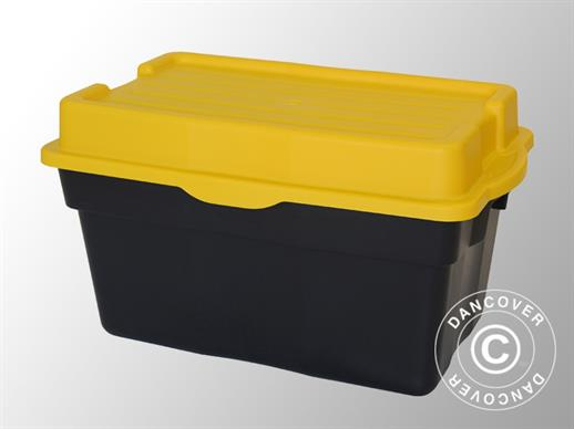 Heavy-duty Storage Box, Elephant XL, 80x51x45cm, Black/Yellow