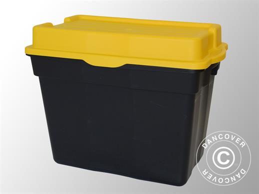 Heavy-duty Storage Box, Elephant XXL, 80x51x62cm, Black/Yellow