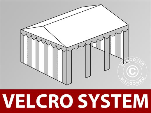 Roof cover with Velcro for Original marquee 3x6 m, White / Grey