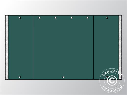 Endwall UNICO 3 m with narrow door, Dark Green