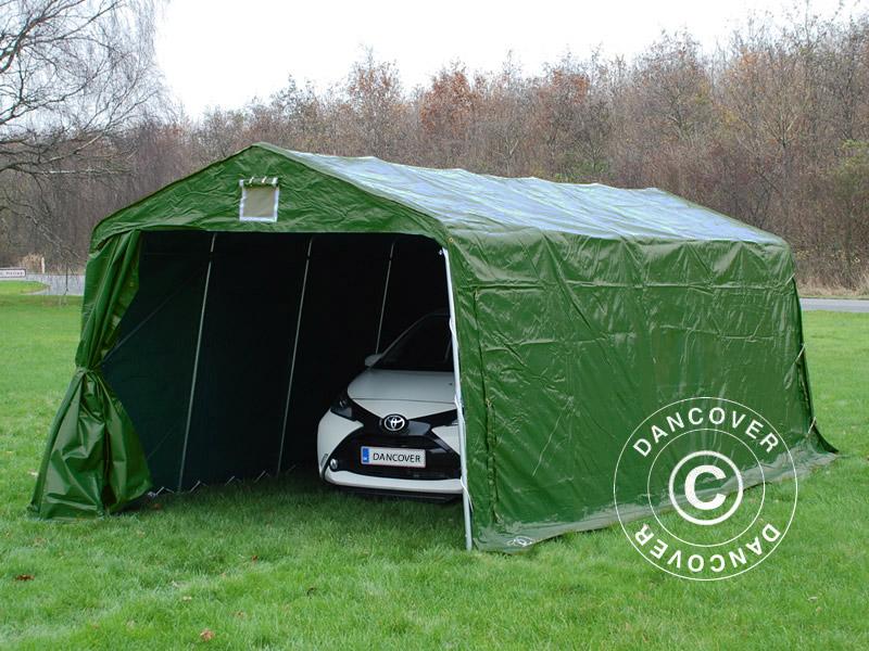 Tente abri 3 3x6x2 4 m pvc stockage garage voiture bateau for Tente garage auto