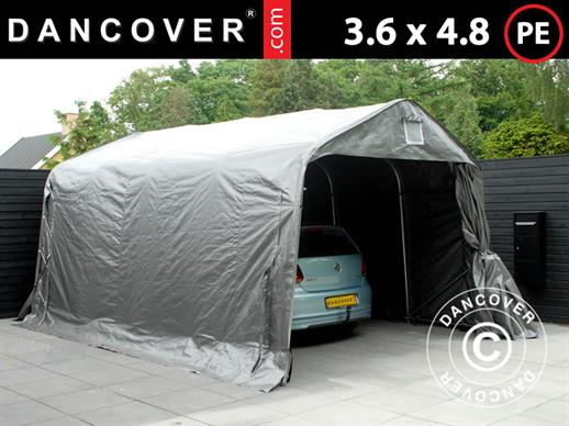 Portable Garage PRO 3.6x4.8x2.7 m, PE, Grey