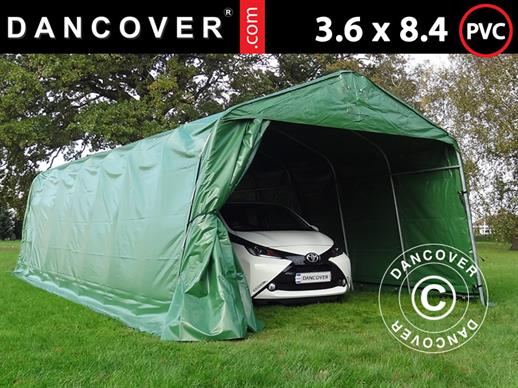 Portable Garage PRO 3.6x8.4x2.68 m PVC, Green