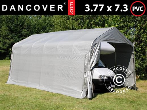 Portable Garage PRO 3.77x7.3x3.18 m PVC, Grey