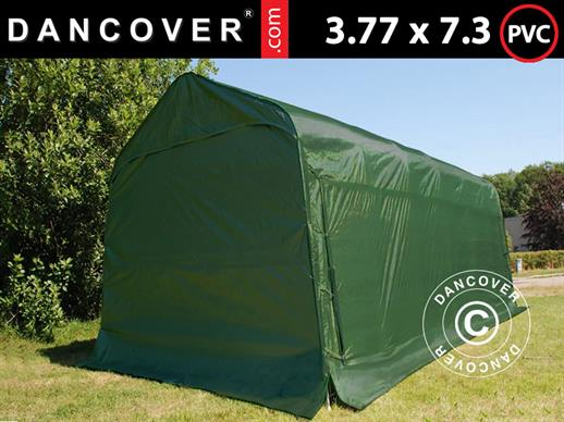 Portable Garage PRO 3.77x7.3x3.18 m, PVC, Green