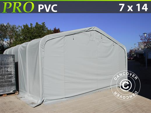 Storage shelter PRO 7x14x3.8 m PVC, Grey