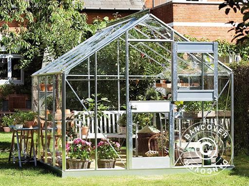 Serre de jardin Verre Juliana Junior 8,3m², 2,77x2,98x2,57m, Aluminium