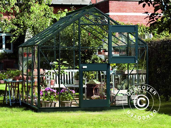 Serre de jardin Verre Juliana Junior 8,3m², 2,77x2,98x2,57m, Anthracite