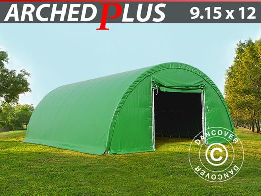 Arched Storage tent 9.15x12x4.5 m, PVC, Green