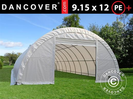 Arched storage tent 9.15x12x4.5 m PE, White