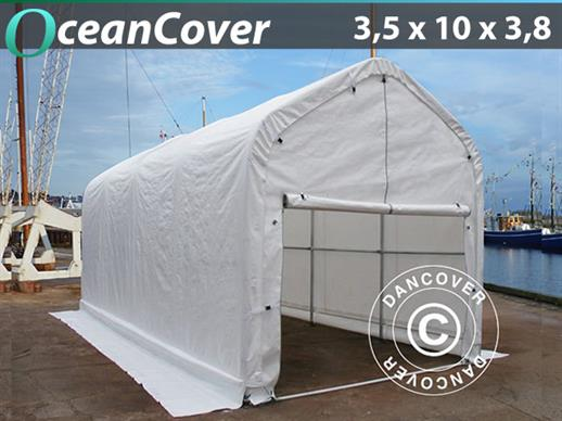 Boat shelter Oceancover 3.5x10x3x3.8 m, White