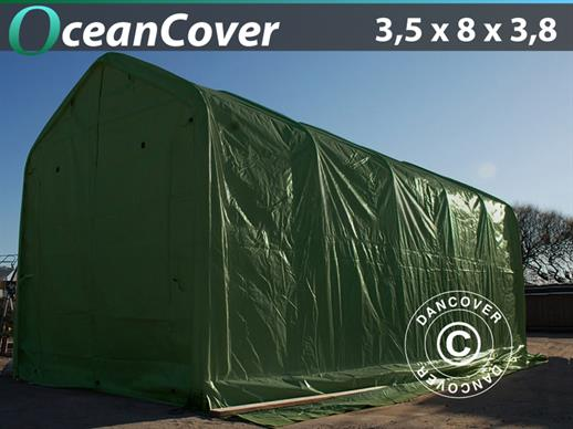 Boat shelter Oceancover 3.5x8x3x3.8 m, Green