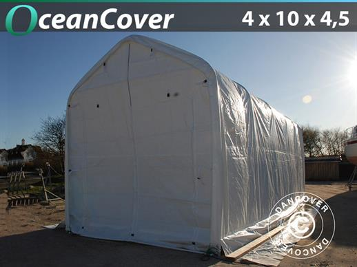 Boat shelter Oceancover 4x10x3.5x4.5 m, White