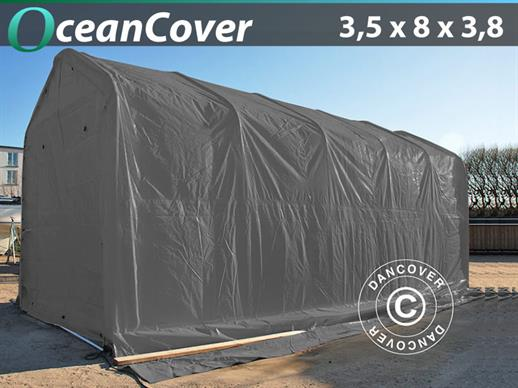 Boat shelter Oceancover 3.5x8x3x3.8 m, Grey