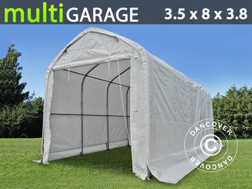 Storage shelter multiGarage 3.5x8x3x3.8 m, White