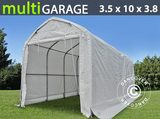 Tente de Stockage multiGarage 3,5x10x3x3,8m, Blanc