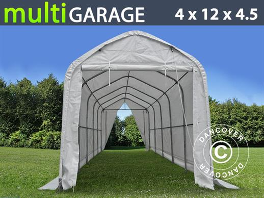 Tente de Stockage multiGarage 4x12x3,5x4,5m, Blanc